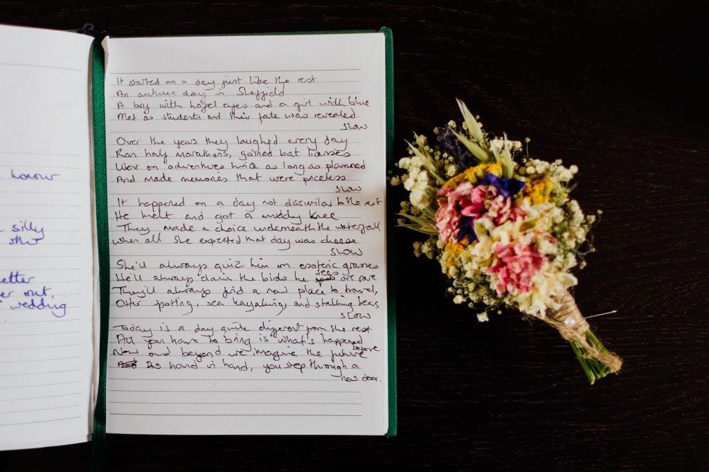 Poem written in a book