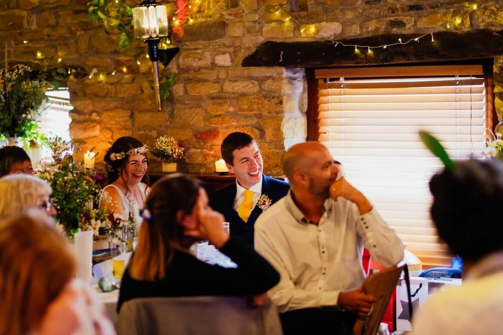 Bride and groom speech reaction