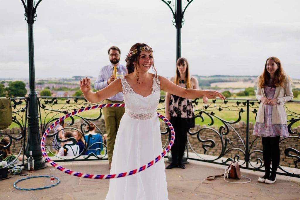 Bride hula hooping