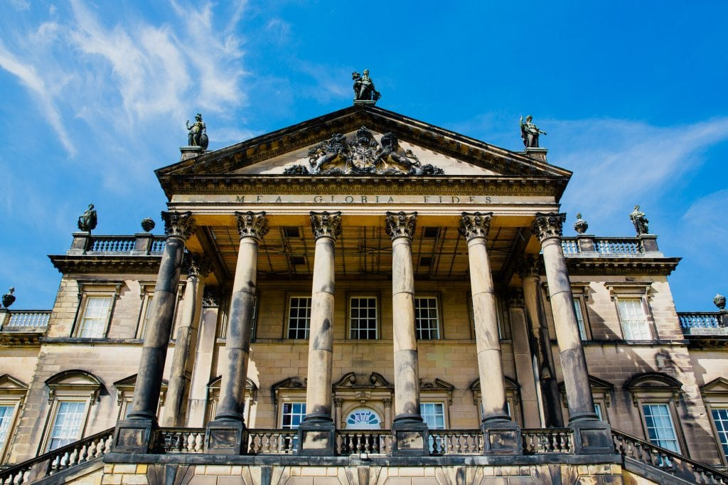 Palladian mansion house front facade