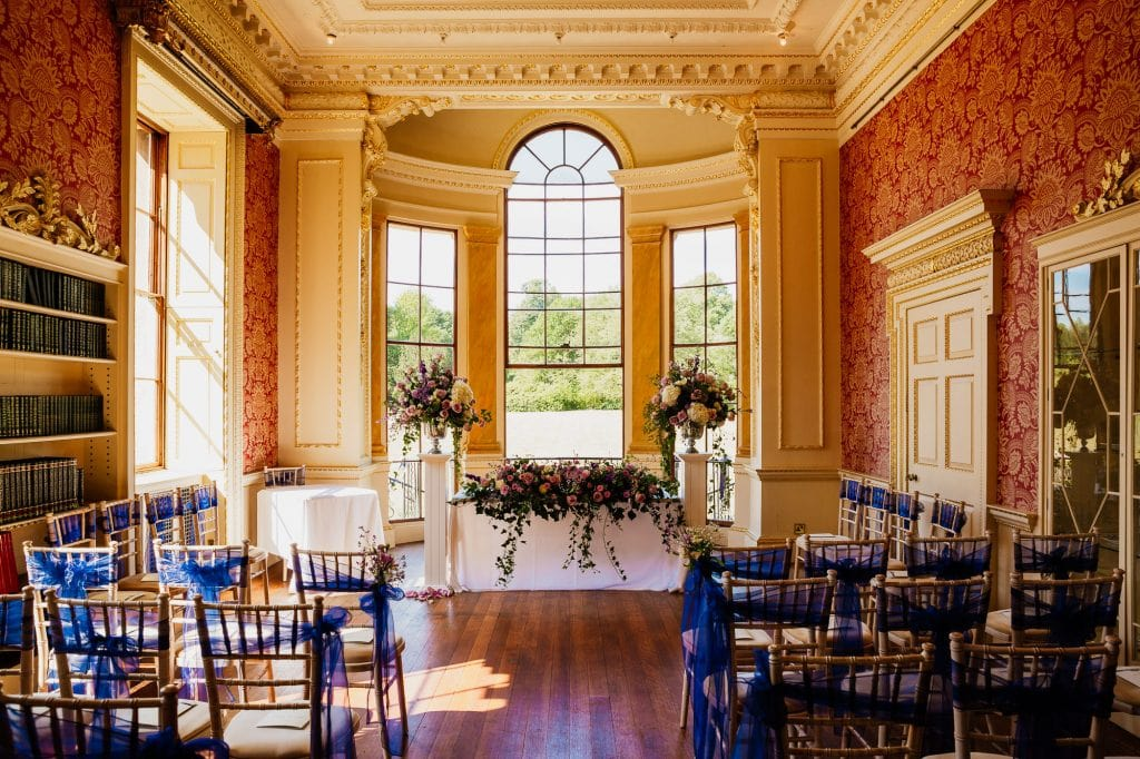 georgian ceremony room with big windows