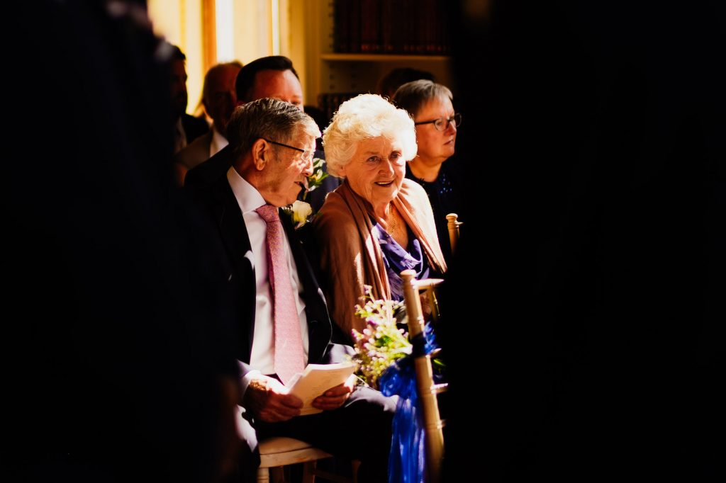 grandparents during wedding ceremony