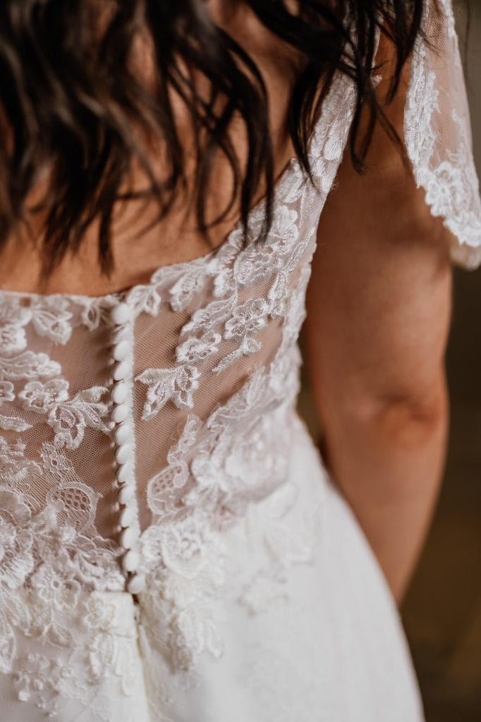 close up lace dress detail