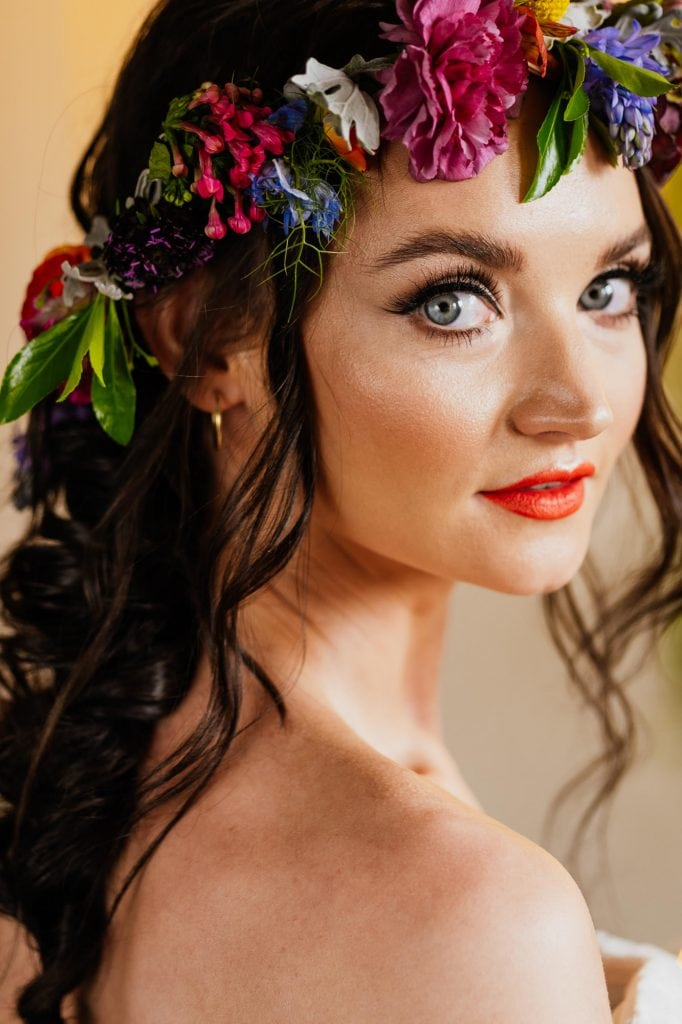 Bride portrait with flower crown