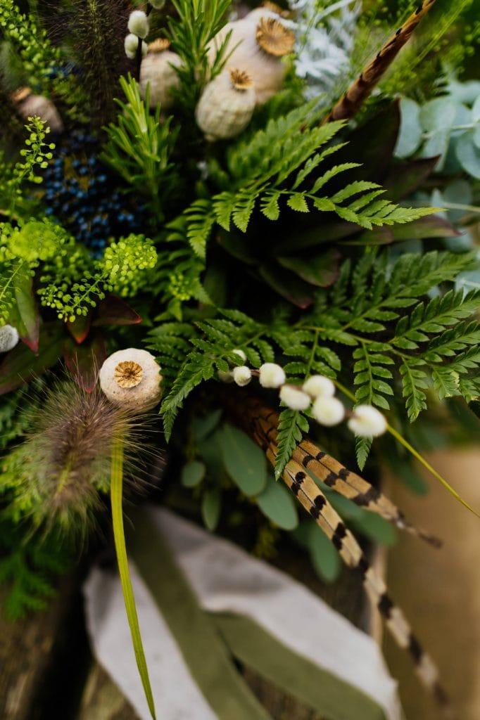 green fern wedding bouquet