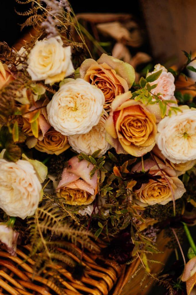 Pale rose wedding bouquet